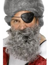 Deluxe Grey Pirate Beard